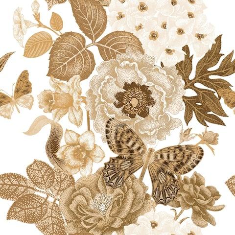 Noisette Roses Removable Wallpaper - 24'' inch x 10'ft