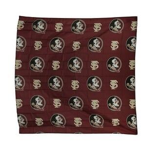 NCAA Florida State University FSU Seminoles Fabric Shower Curtain 72x72 inch - DARK RED