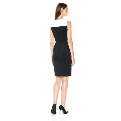 tommy hilfiger black white dress