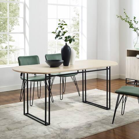 Carson Carrington 72-Inch Oval Drop Leaf Dining Table