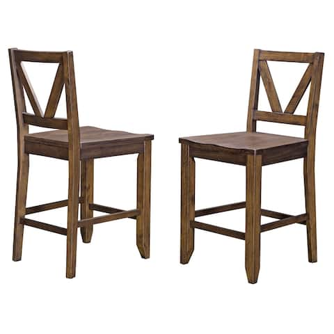 Simply Solid Haviland Solid Wood Counter Stools (Set of 2)