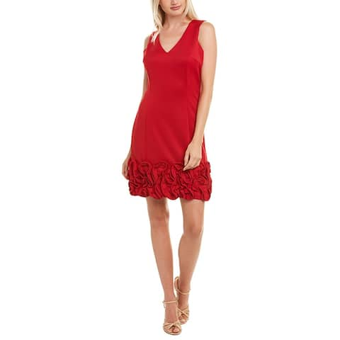 Donna Ricco Ruffled Shift Dress