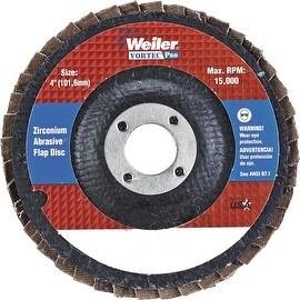 """Weiler 4"""" 36G Flap Disc"""