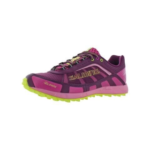 Salming Womens Trail T3 Trail Running Shoes RunLite RocShield - Dark Orchid/Azalea Pink