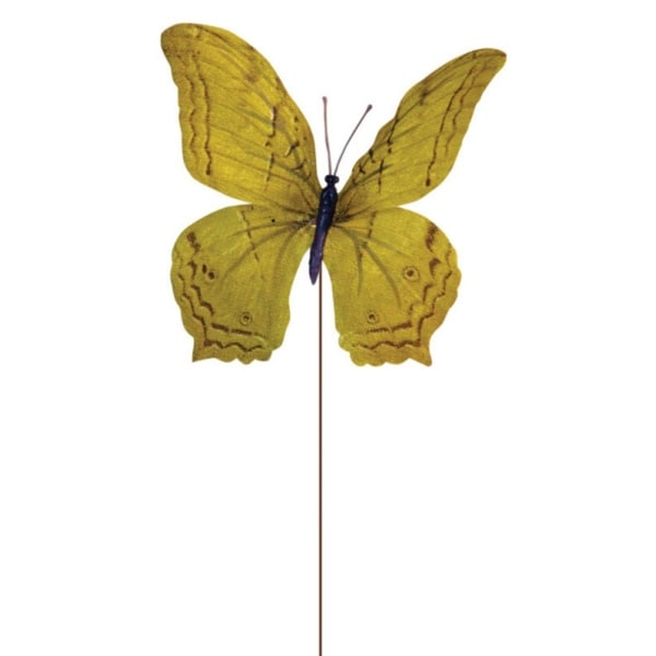 """Club Pack of 36 Mustard Yellow Butterfly Craft Pick 7"""""""