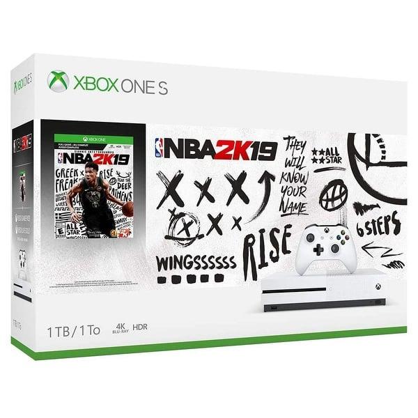 Shop Xbox One S 1TB Console - NBA 2K19 Bundle 234-00575