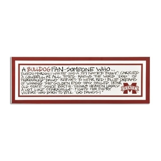 Mississippi State University Definition of a Fan Wooden Plaque