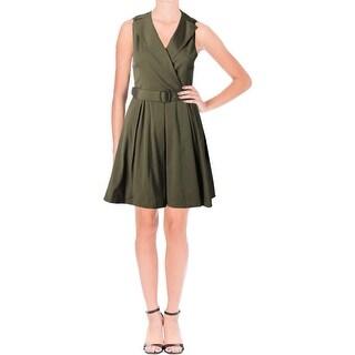 Lauren Ralph Lauren Womens Dexas Shirtdress Taffeta Fit & Flare