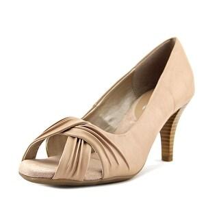 A2 By Aerosoles Deluxe Women US 7.5 Nude Peep Toe Heels