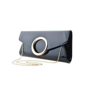 Cicel Girl Ladies Fashion Evening Bag Pu Leather Metal Chain Shoulder Handbag
