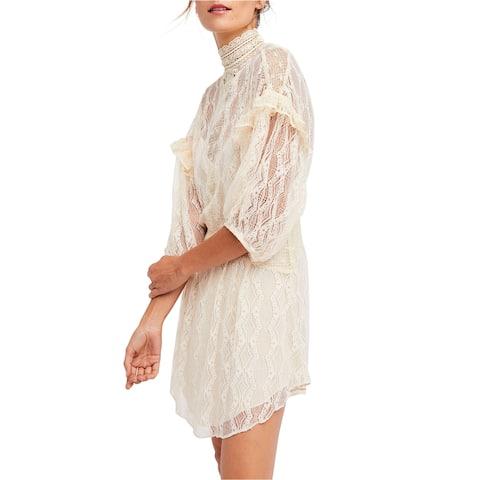 Free People Womens Bittersweet Lace A-Line Dress
