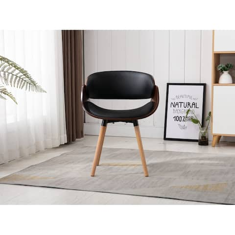 Home Beyond Black Synthetic Leather Leisure Chair