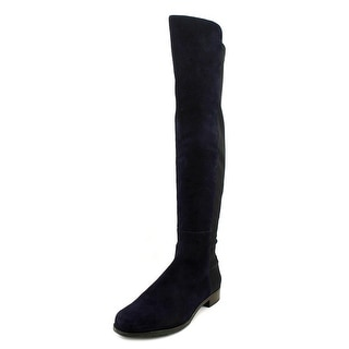 Stuart Weitzman Forward Round Toe Leather Over the Knee Boot