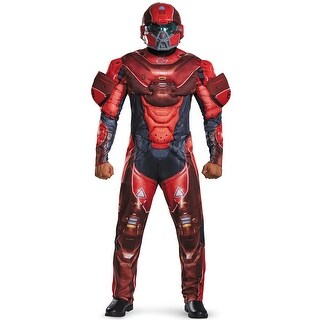 Disguise Red Spartan Muscle Adult Costume