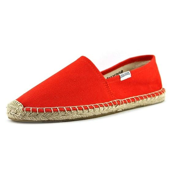 Soludos Original Espadrille Women Round Toe Canvas Red Espadrille