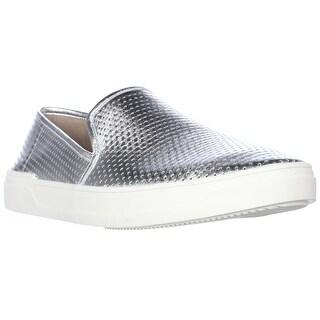 Via Spiga Galea5 Perforated Slip On Sneakers - Silver