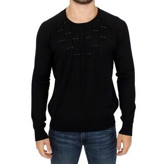 Karl Lagerfeld Karl Lagerfeld Black crewneck pullover sweater