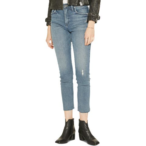 Silver Jeans Co. Womens Frisco Straight Leg Jeans Denim High Rise