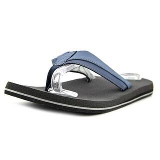 Sanuk Beer Cozy Men  Open Toe Synthetic Blue Slides Sandal