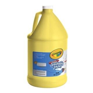 Crayola Tempera Paint, 1 gal Bottle, Yellow