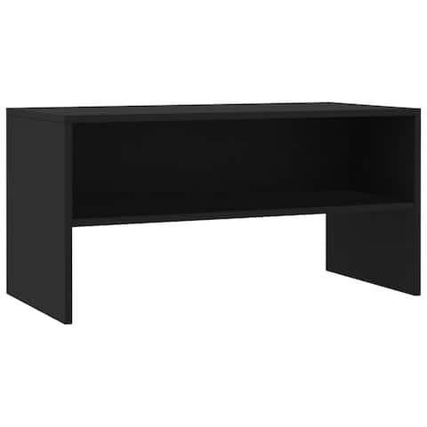 """vidaXL TV Cabinet Black 31.5""""x15.7""""x15.7"""" Chipboard"""