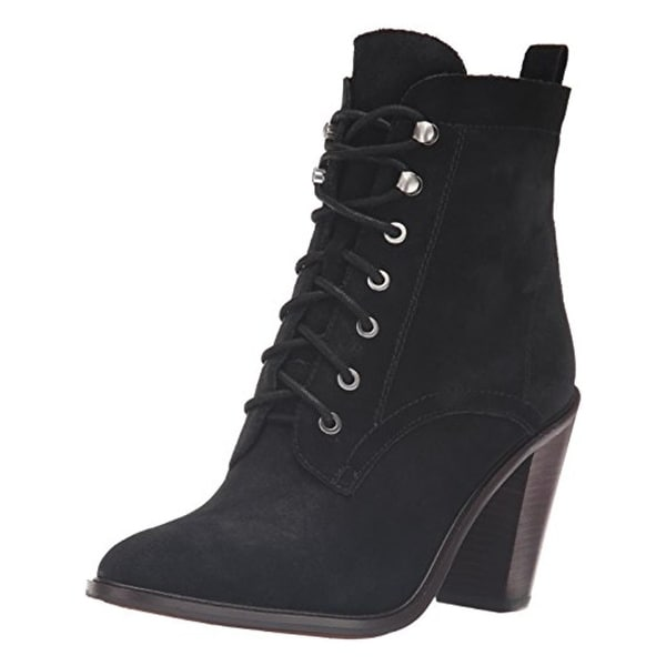 BCBGeneration Womens Bennie Lace-Up Boot Suede Close Toe