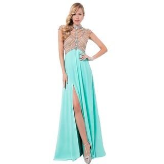 Terani Couture Chiffon Illusion Formal Dress