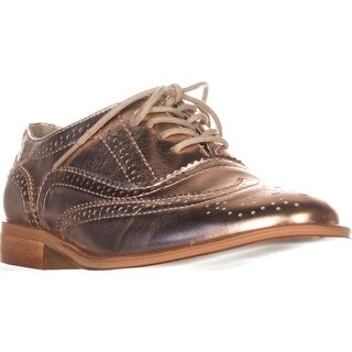 Wanted Babe Lace Up Oxfords, Rose Gold