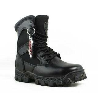 Rocky Mens Fq00021654.5W Black Combat Boots Size 4.5 (E, W)