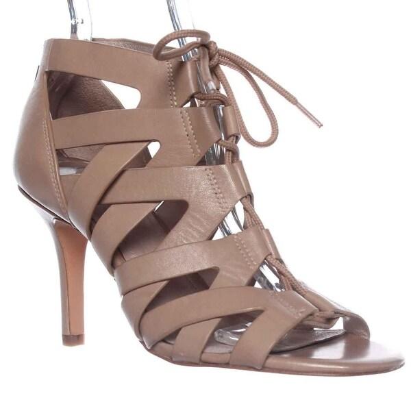 Pour La Victoire Camila Lace-Up Gladiator Sandals, Nude - 10 us