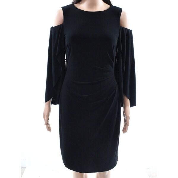 73c01cca335 Shop LAUREN BY RALPH LAUREN Black Women s 4 Cold Shoulder Sheath Dress - On  Sale - Free Shipping Today - Overstock - 27194951