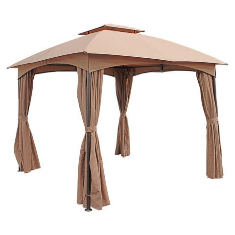 St. Kitts 3-meter Steel Dome-top Gazebo with Curtains