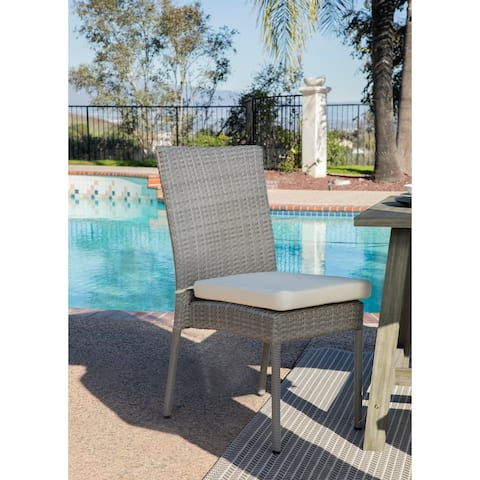 Niagara Wicker Outdoor Side/Dining Chairs (Set of 4)