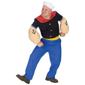 Popeye The Sailor Man Adult Mens Halloween Costume - Standard - One Size
