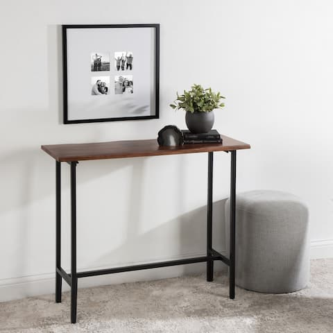 Kate and Laurel Lankford Wood and Metal Console Table - 36x12x30