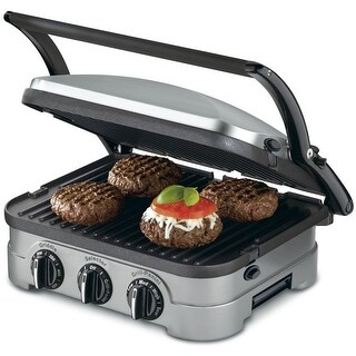 Cuisinart 5-in-1 Griddle Contact Counter-top Grill Panini Press Griddler (Refurbished)