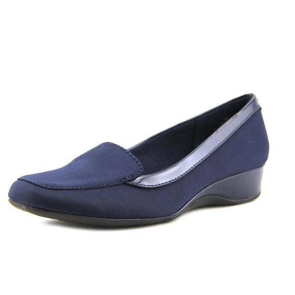 220792b69d9 Shop Bandolino Lilas Women Square Toe Canvas Blue Loafer - Free ...