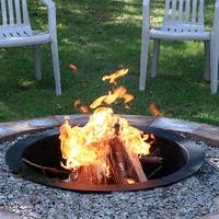 Sunnydaze Durable Black Steel DIY Fire Pit Ring Liner - 27-Inch Diameter