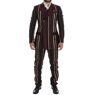Dolce & Gabbana Dolce & Gabbana Multicolor Striped Runway 3 Piece Slim Fit Suit - it48-m
