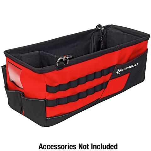 Powerbuilt 21-Inch Car Trunk Tool Storage Carrier Organizer Bag - 642412