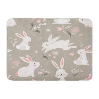 Pattern Rabbit Bunny Cute Easter Cartoon Baby Doormat Floor Rug Bath Mat 23 6x15 7 Inch Multi On Sale Overstock 31775191