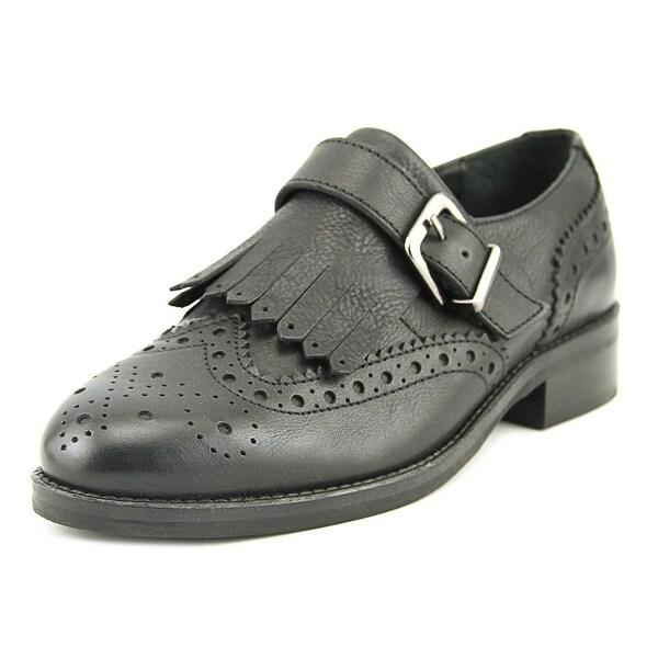 Dune London Gospel Women Round Toe Leather Black Loafer
