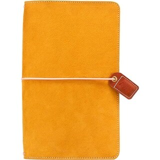 "Mustard Suede - Color Crush Faux Leather Traveler's Planner 5.75""X8"""