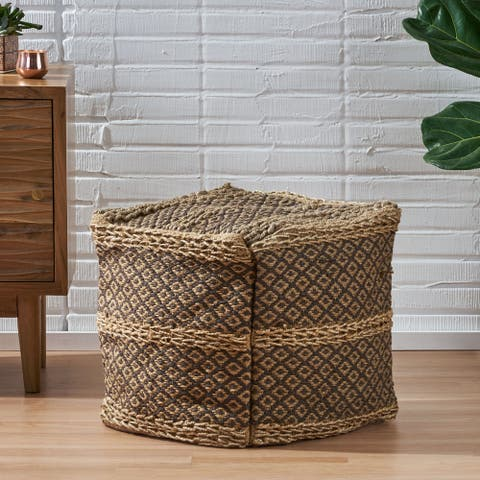 Teasdale Boho Fabric Cube Pouf by Christopher Knight Home