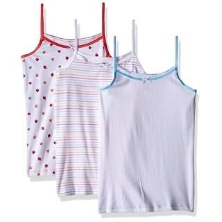 Trimfit Girls 2-16 Caupcake Print Camisoles 3-Pack - Multi