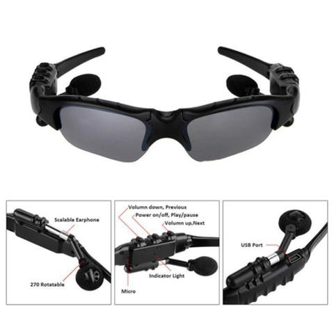 Handfree Bluetooth SunGlasses Headphones Wireless For Cell Phone