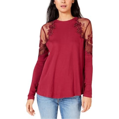 Free People Womens Daniella Illusion Basic T-Shirt