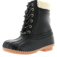 Link Kyla-3K Children Girl's Fashion Snow Mid Calf Waterproof Lace Up Duck Boots