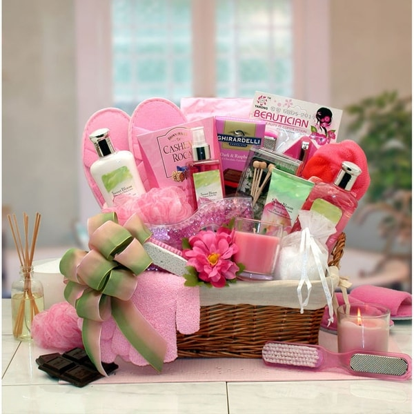 Sweet Blooms Spa Gift Basket. Opens flyout.