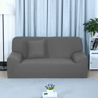Home Sofa Couch Reversible Stretch Cover Slipcover 74''-90''